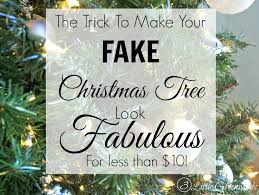 update a fake christmas tree for less than 10 by 3 little greenwoods