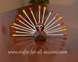 this turkey has a of paint dipped cotton swabs it can