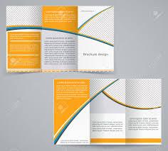 Vorlage Lorem Ipsum Tri Fach Business Brosch禺re Vorlage Vektor Orangen Design Flyer