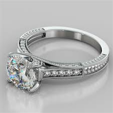 engagement rings 2 50ct cut engagement ring available in 14k 18k and platinum