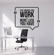 vinyl wall decal motivational quote hard work office decorating vinyl wall decal motivational quote hard work office decorating art stickers mural ig4992
