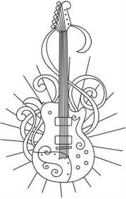 guitar coloring pages to print rock and roll coloring pages electric guitar coloring page music