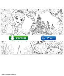 sofia princess coloring pages