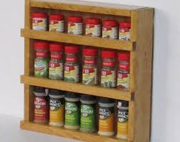 Red Spice Rack Wood Spice Rack Etsy