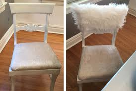 fur chair cover white fur chiavari chair caps home decor style up your dinning