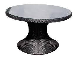 wicker dining table with glass top rattan dining table round glass top round table ideas