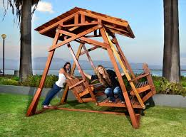 Wooden Glider Swing Plans by Dustin U0027s Face To Face Gliders Foreverredwood Com