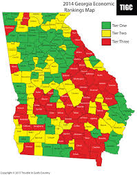 Bartow County Tax Maps 2014 Economic Rankings Map Trouble In God U0027s Country