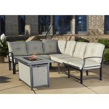 Gas Fire Pit Table Sets - cosco outdoor aluminum sofa sectional patio set with gas fire pit