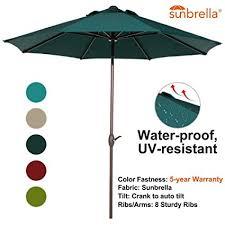 Auto Tilt Patio Umbrella Abba Patio Sunbrella Patio Umbrella 9 Outdoor