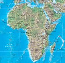 angola physical map physical map of africa rivers terrain forests and countries