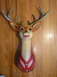 vintage mold craft blow mold christmas reindeer 1957 brand new in