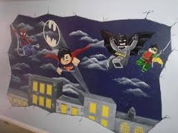 Batman Decor For Bedroom Superhero Wall Murals Design U2013 Musingsofamodernhippie