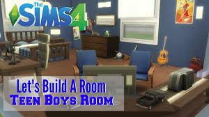 the sims 4 let u0027s build a room teen boys room youtube