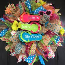 flip flop wreath best summer wreaths with flip flops products on wanelo