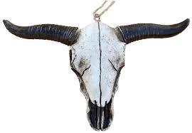 west style longhorn skull ornament pole west cowboy
