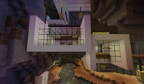 hanging extensive modern house minecraft project