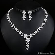 bride necklace images 2017 wedding bridal jewelry shiny crystal rhinestone flower jpg