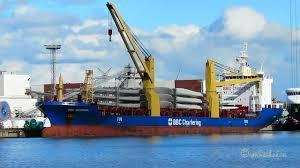 Cargo Crane Ship Bbc Georgia V2db4 Imo 9357224 Emden Merchant