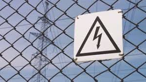 electrical props warning sign danger of electric shock high