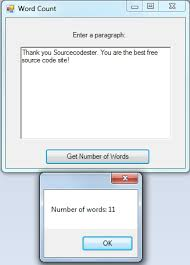 How To Count Number Of Words In Word Document Count Number Of Words C Free Source Code Tutorials And
