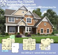 split floor plan and side load garage house plans floor plans home
