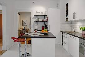 45 square meters apartment with kitchen island