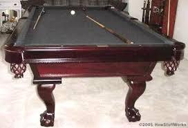 Red Felt Pool Table Rack U0027em Up How Billiard Tables Work Howstuffworks