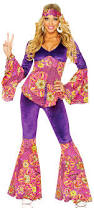 Hippie Halloween Costumes Adults Womens Purple Power Hippie Costume Costume Craze