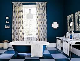 awesome bathroom color ideas over plaid patterned flooring plan