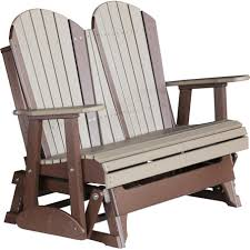 Luxcraft Porch Rocker Amish Yard Luxcraft Adirondack 4 U0027 Recycled Plastic Glider Chair Rocking