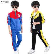 v tree 2017 boys clothing set zipper sports clothes