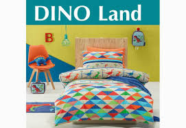 Dinosaur Double Duvet Dino Land Dinosaur Patterns Single Double Size Quilt Cover Set