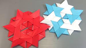 easy origami star modular hexagon youtube