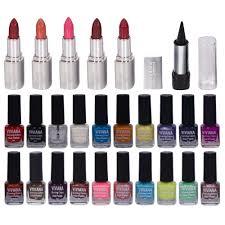 viviana nail polish lipstick u0026 kajal combo make up kits