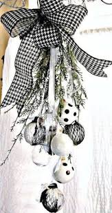 White Bow Christmas Decorations by