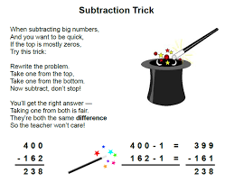mathwire subtraction trick