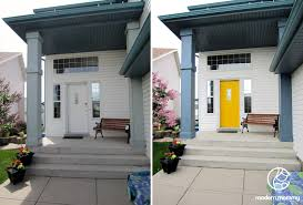 modern mommy i had a white door and i wanted it painted yellow