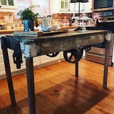 Industrial Kitchen Cart by Industrial Kitchen Island U2013 Just Add Rust