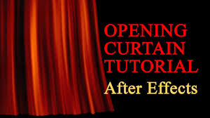Theater Drop Curtain Realistic Opening Curtain After Effects Tutorial Youtube