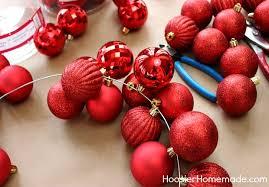 diy ornament garland hoosier