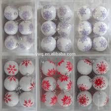 korean christmas decorations blue christmas ball ornament 6cm 6pcs