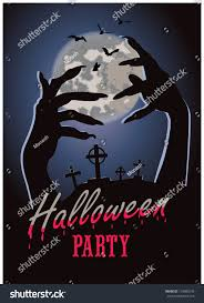 halloween party background images halloween party poster happy holiday background stock vector