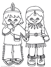 coloring sheet native american preschool native american