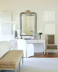white makeup vanity table bedroom desk vanity distressed silver mirror with white makeup