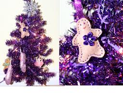 s purple tree girly ornaments needed