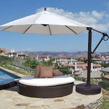11 Ft Offset Patio Umbrella Pic 12 Foot Patio Umbrella Of Galtech Sunbrella Easy Tilt 11 Ft