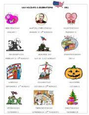 esl worksheets for beginners usa holidays