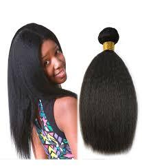 crochet black weave hair natural black kinky straight coarse yaki brazilian virgin hair