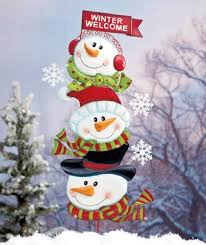 Metal Christmas Lawn Decorations by Snowman Yard Stakes Christmas Wikii